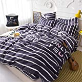 SHADEHAO Home Textile Boys Kid Adult Bedding Sets Galactic Universe Planet Duvet Cover Pillowcase Flat Bed Sheet King Queen Twin 15 Full