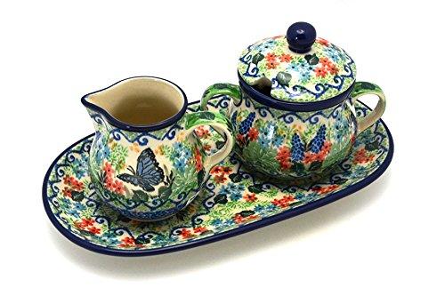 (Polish Pottery Cream & Sugar Set - Unikat Signature U4600)