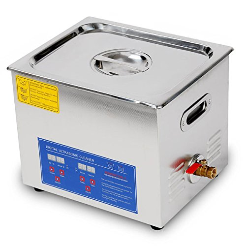 10L / 2 6 Gallon Ultrasonic Cleaner with Stainless Steel Basket 240W  Cleaning Power + Heater with Digital Timer Industrial Parts Carb Carburetor