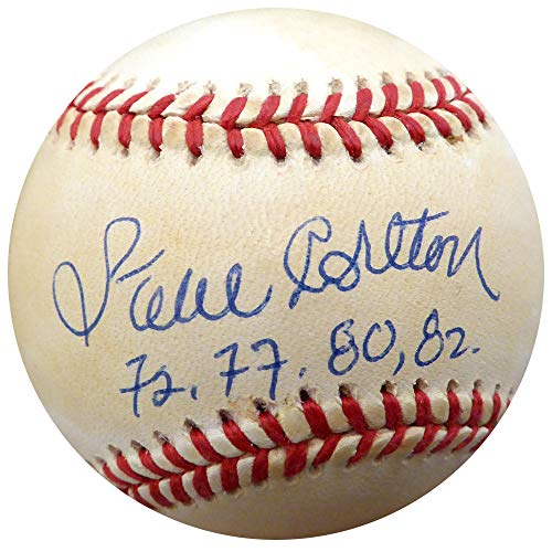(Steve Carlton Signed Official NL Baseball Philadelphia Phillies, St. Louis Cardinals 72, 77, 80, 82 Memorabilia - Beckett Authentic)