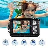 Underwater Camera for Snorkeling 24.0 MP Waterproof Camera Full HD 1080P Underwater Digital Camera Selfie Dual Screen Waterproof Action Camera
