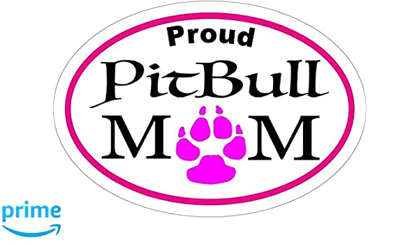 """6/"""" Back Off I Have A Crazy Pitty Mom-Pitbull Mom Vinyl Window Car Laptop Decal"""