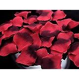 BUDILA® 1000 Stück textile Rosenblütenblätter Rosenblätter bordeaux rot