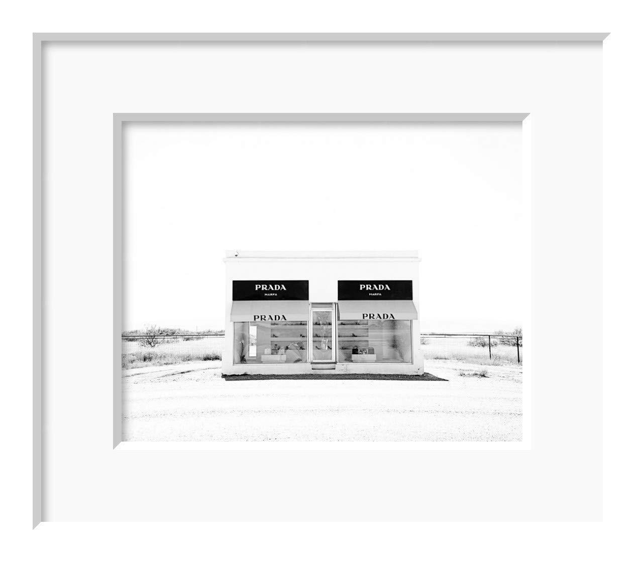 Prada Marfa Black and White Photograph 8x10 inch print