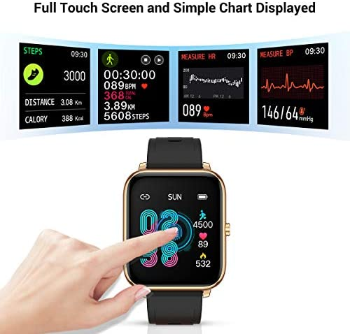 CanMixs Smart Watch for Android Phones iOS Waterproof Smart Watches for Women Men Sports Digital Watch Fitness Tracker Heart Rate Blood Oxygen Sleep Monitor Touch Screen Compatible Samsung iPhone 51MWgjAmaRL