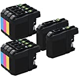 10 Inkfirst Ink Cartridges LC203XLBK LC203XLC LC203XLM LC203XLY Compatible Remanufactured for Brother LC203XL Black Cyan Magenta Yellow (2 Set + 2 Black) MFC-J680DW MFC-J880DW MFC-J885DW MFC-J4320DW MFC-J4420DW MFC-J460DW MFC-J4620DW MFC-J480DW MFC-J485DW MFC-J5520DW MFC-J5620DW MFC-J5720DW