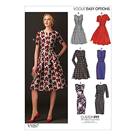 Vogue Ladies Easy Sewing Pattern 9267 Fit & Flare Dresses with ...
