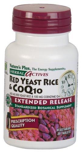 Levure de riz rouge & Co Q 10, 600 mg et 100 mg, 30 comprimés - plus de la nature