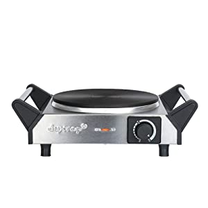 Duxtop ES-3102 1500W Portable Electric Cast Iron Cooktop Countertop Burner (Single) 7.5 inch Silver