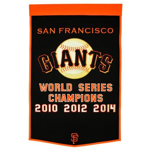 San Francisco Giants World Series Championship Dynasty Banner - with hanging rod