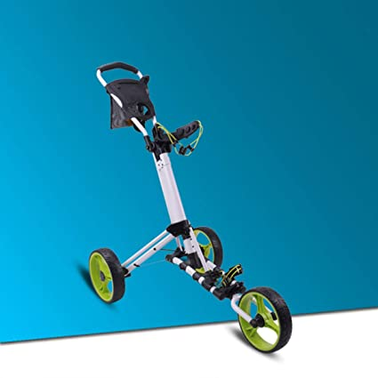 Carro De Golf Push-pull Carro De Golf - Freno De Pedal - Carretilla Plegable