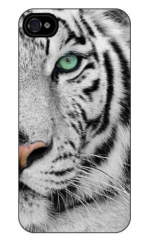 iPhone 8 / 7 Compatible, Colorful Flexible Silicone White Tiger Rubber Case Cover