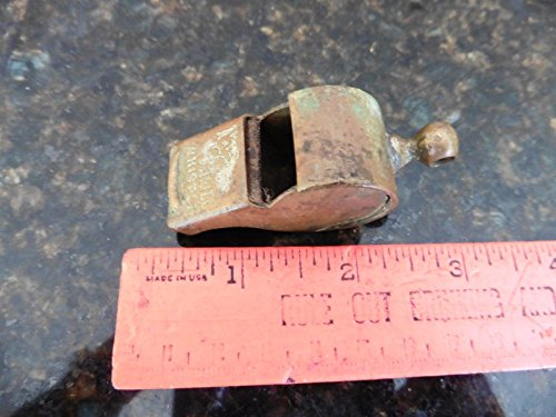 Vintage The Thrill Whistle Brass Mouth Whistle Antique Toy ? WWI or WWII era ?