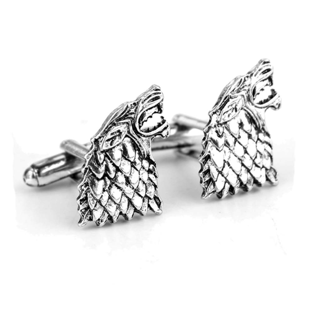 Geek & Glitter Game of Thrones Cufflinks - Six Styles to Choose from - House Stark, Targaryen, Gifts Merchandise (Stark)