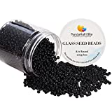 PandaHall Elite 1 Box 8/0 Glass Seed Beads Round Pony Bead Black for Jewelry Making 3mm (about 2000pcs)