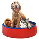 AceZone Collapsible Dog Bathtub Pet Bathing Tub Cats Dogs Swimming Pool Water Pond Kids Play Wash Tub