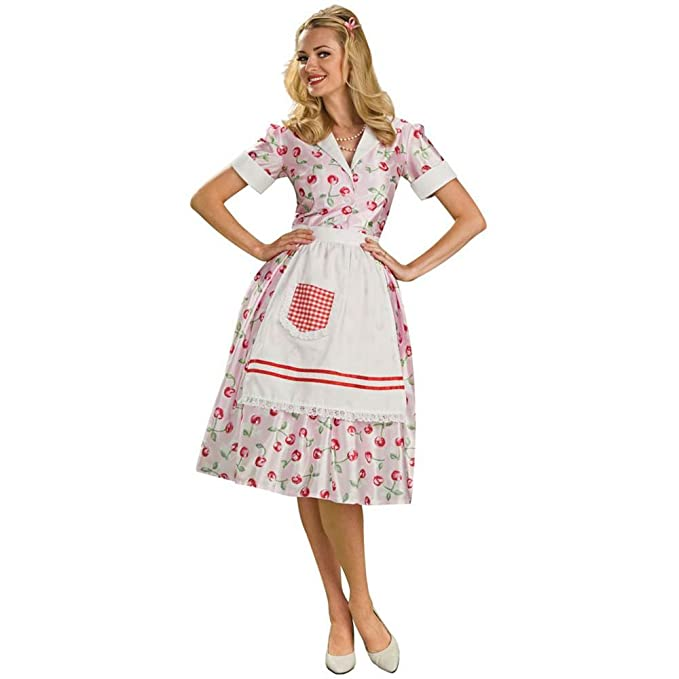 1950s Costumes- Poodle Skirts, Grease, Monroe, Pin Up, I Love Lucy Rubies Costume Co. Womens 50s Housewife Costume $27.69 AT vintagedancer.com