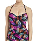 Fantasie Talmanca Plunge Tankini Top, 38G, Multi Palm Leaf