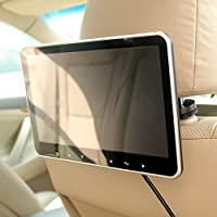 In Car 10 Inch Headrest HD TFT-LCD LED Monitor Screen SD USB HDMI MP4 MP5 Media Multimedia Player FM Transmitter Quick Install by HitCar