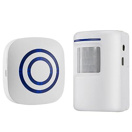 ajusen Wireless Home Security auffahrt Alarma: infrarrojo Sensor de movimiento para puerta Bell alarma carillón