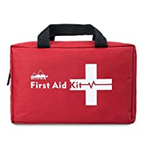 First Aid Kit - Mopha Premium 220 Piece Medical Kit Home, Travel, Camping, Hiking, Office, Car Sports, Emergency & Survival