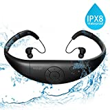 Tayogo Waterproof MP3 Player, IPX8 Swimming Headphones with Shuffle...