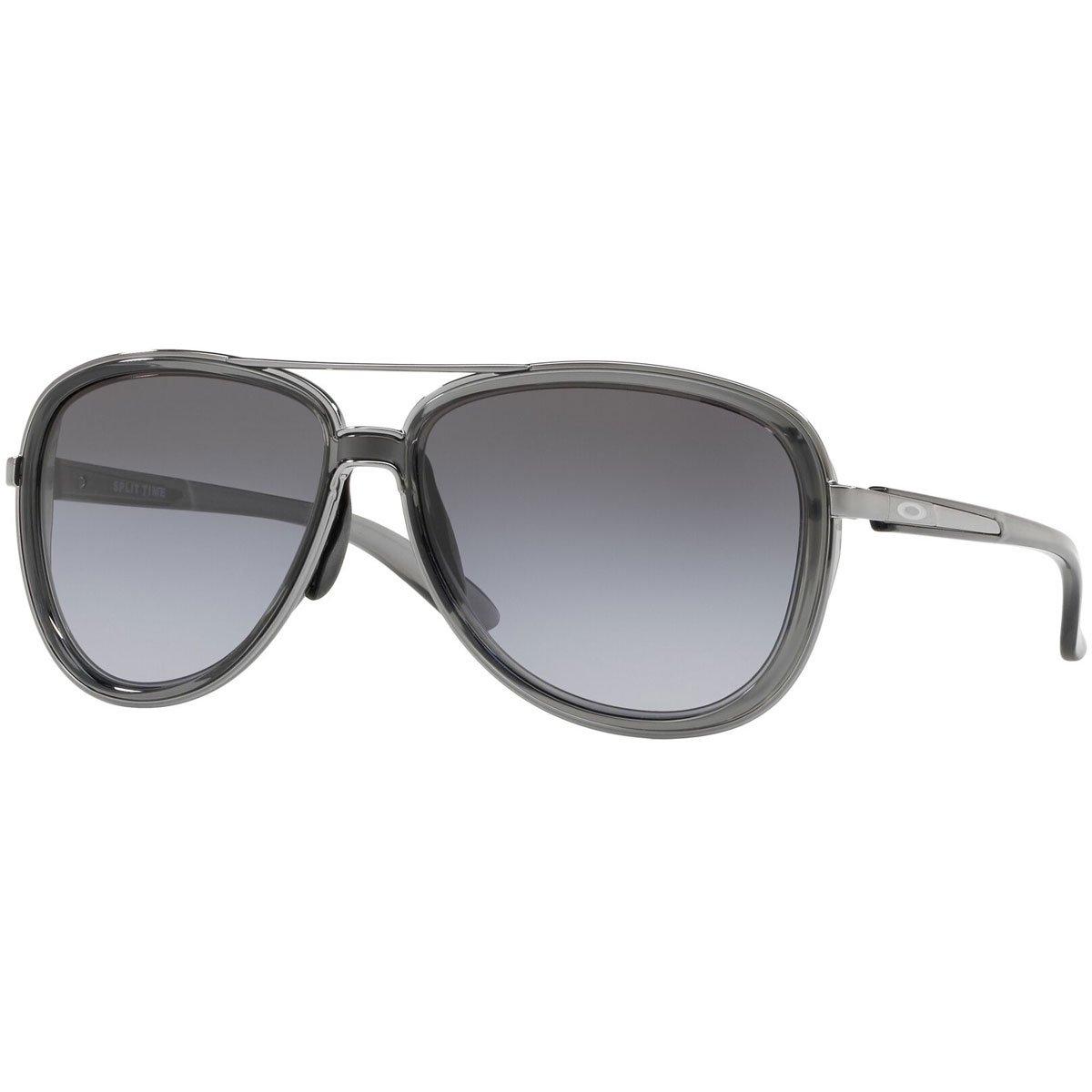 Oakley Women's Split Time Aviator Sunglasses, Onyx, 58.2 mm
