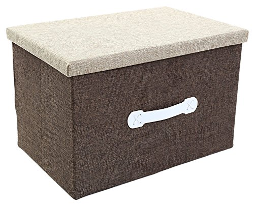 Jute Stackable (Jumbo Storage Box - Natural Jute Storage Container - Beige Closet Box - 18 x 12 x 12)