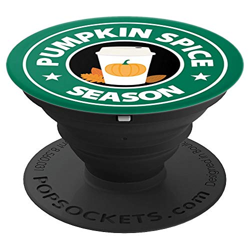 Pumpkin Spice Season Coffee PSL Lovers - PopSockets Grip and Stand for Phones and Tablets