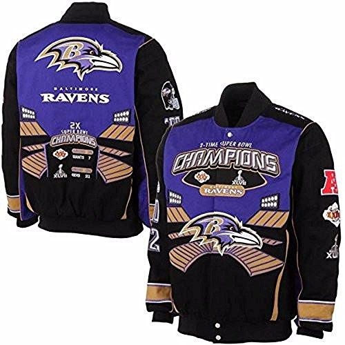re Ravens Super Bowl Championship Button Up Twill Jacket (Twill Championship Jacket)