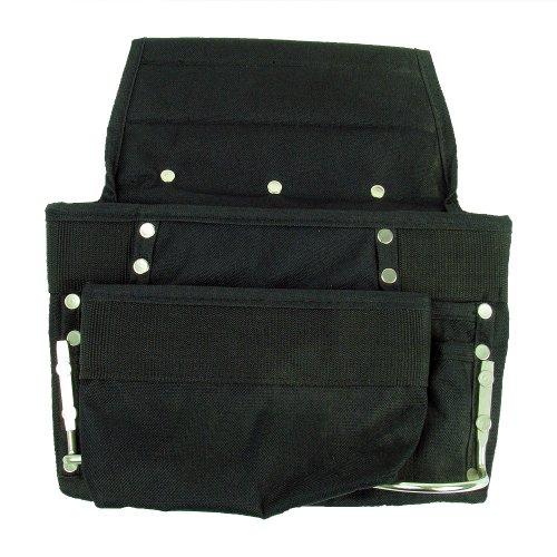Small Twin Loop - Stalwart 75-1101 Hawk Professional Grade Black 8 Pocket Tool Bag