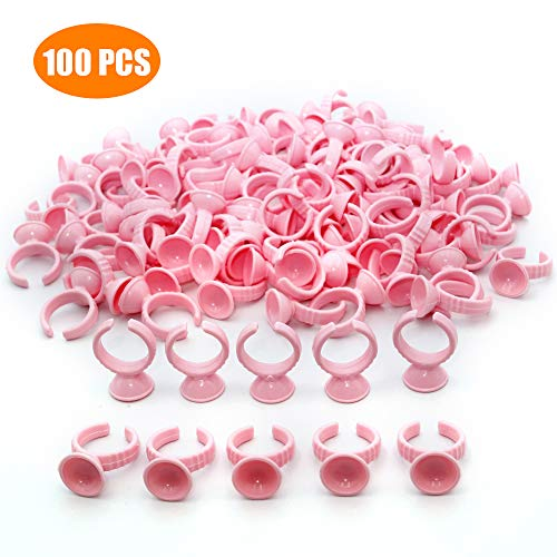 100PCS Pink Disposable Plastic