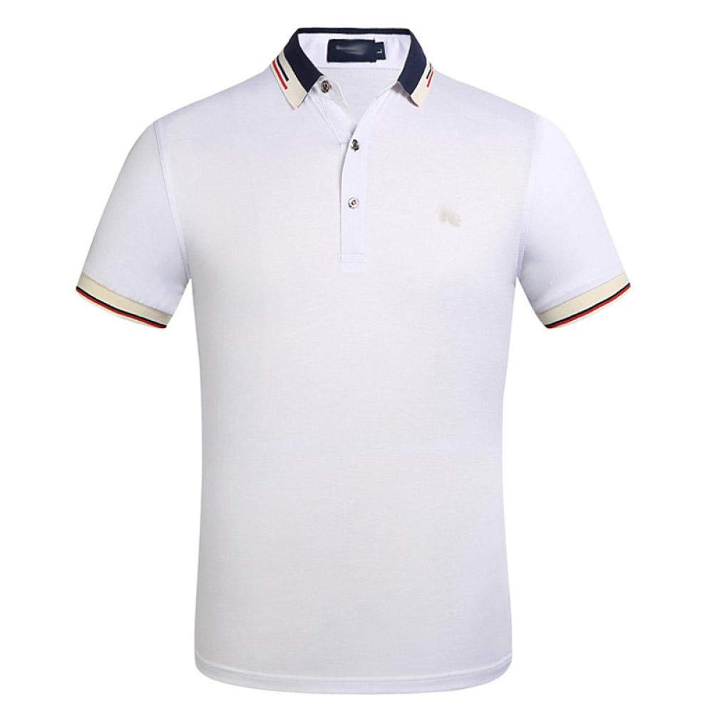 Solid Colored Patchwork Black XXL YFLTP Mens Daily Wear Polo