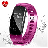 Fitness Tracker - Letufit Heart Rate Activity Tracker Smart Bracelet with Sleep Monitor - Pedometer for iOS & Android (purple)