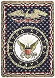 united states navy blanket - United States Navy Military 3 Layer Afghan Throw Blanket 50