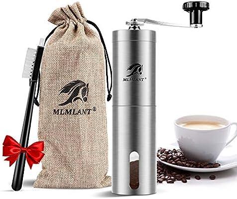 MLMLANT Molinillo de café Manual, Molinillo de Granos de café de ...