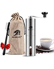 MLMLANT Manual Coffee Grinder, Steel Manual Coffee Bean Grinder with Adjustable Ceramic Burr, Hand Bean Mill for Home, Travel