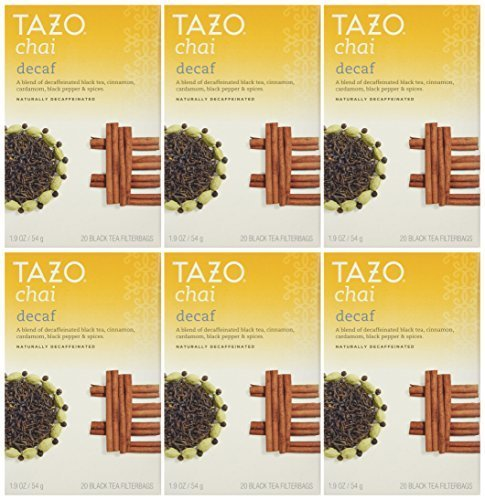 Tazo Teas, Decaf Chai, Naturally Decaffeinated, Black Tea, 2