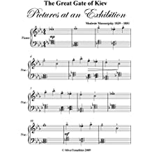 Great Gate of Kiev Pictures at an Exhibition Mussorgsky Elementary Piano Sheet Music