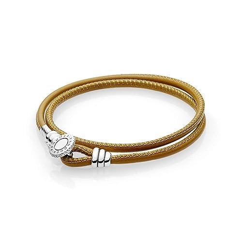 0f7ba6b7a26f Pandora Pulsera cuerda Mujer plata - 597194CGT-D2  Amazon.es  Joyería