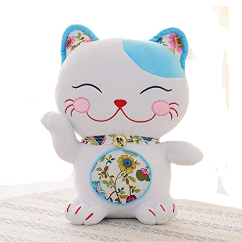 Low Cost Smily Lucky Cat Stuffed Animal Toy Soft Cat Toy Christmas