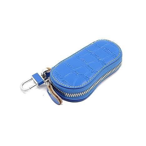Bolso Dominante De Cuero Casual De La Moda De La Cartera Azul De Los Hombres/
