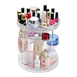 A-MOONER 360 Degree Rotation Transparen Adjustable Multi-Function Cosmetic Storage Box Luxury Acrylic Storage Box(14in 11in)