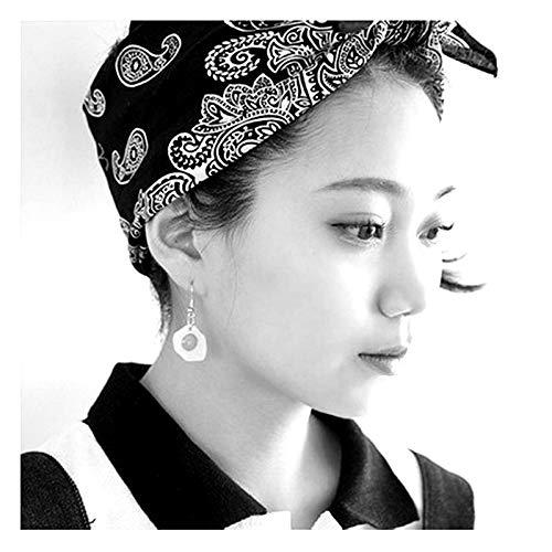 Jin Sheng 18K Gold Plated Unique Design Lovely Fried Eggs Pendant Charm Dangle Hook Earrings for Women Girls