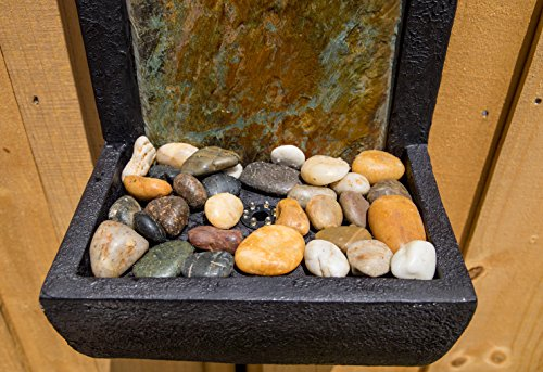 Kenroy Home 51034SLBL Triptych Indoor/Outdoor Wall Fountain with Light, 37'' H, Natural Green Slate/Black Finish by Kenroy Home (Image #4)