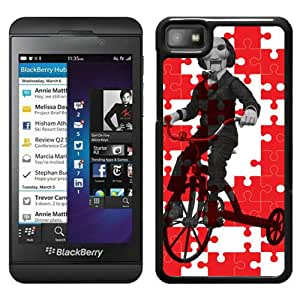 Beautiful Designed Cover Case For Blackberry Z10 With creative spark jigsaw puzzle Black Phone Case