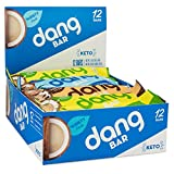 Dang Bar - KETO CERTIFIED, Low Carb, Plant Based, Gluten Free, Real Food Snack Bar, 2-3g Sugar, 4-5g Net Carbs, No Sugar Alcohols or Artificial Sweeteners, 12 Count (3 Flavor Variety Pack) Larger Image