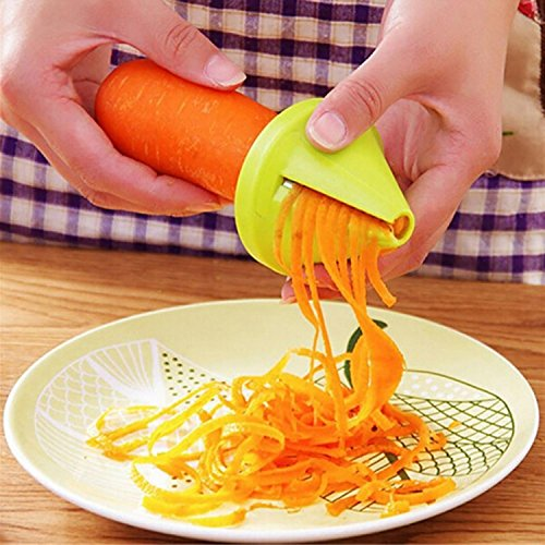 Dongtu Kitchen Gadget Funnel Vegetable Carrot Radish Cutter Shred Slicer Spiral Device Chef's Knives by Dongtu (Image #2)