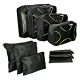 Navaris 9 Set Travel Packing Cubes - Luggage Organizer Laundry, Toiletry Bags