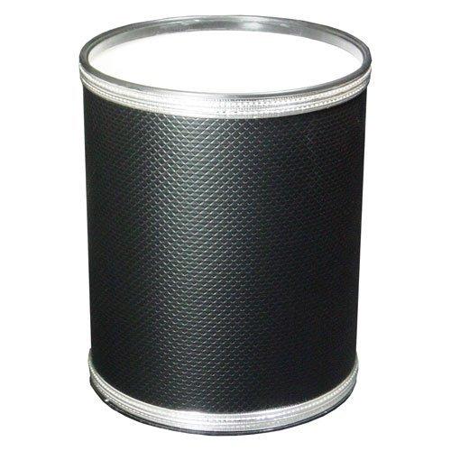 Redmon Budget Round Black Wastebasket ()